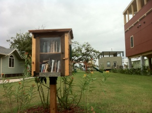 The do-it-yourself lending library in the Make It Right Foundation community of new homes.