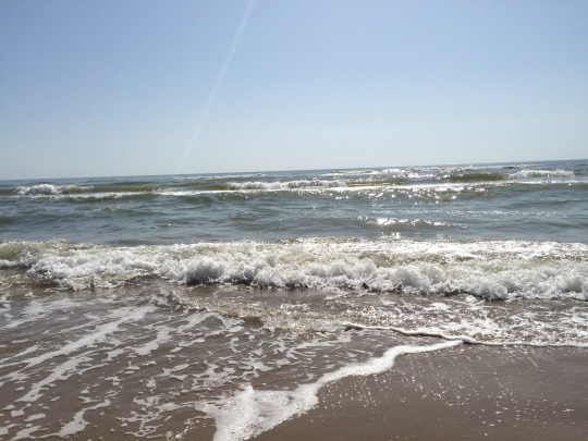 Gulf of Mexico waves come ashore at South Padre Island.