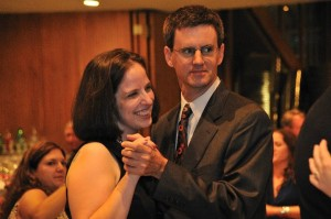 Sarah an I dancing at the wedding of friends.